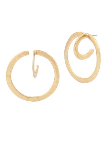 Robert Lee Morris Soho Plated Hoop Earrings-GOLD-One Size