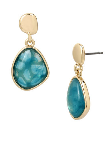 Kenneth Cole New York Crystal Polished Dangle & Drop Earrings-TEAL-One Size