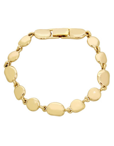 Kenneth Cole New York Pebble Link Bracelet-GOLD-One Size