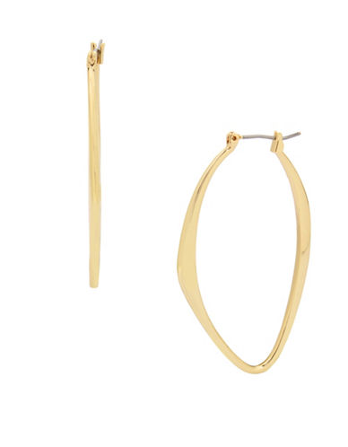 Kenneth Cole New York Oval Hoop Earrings-GOLD-One Size