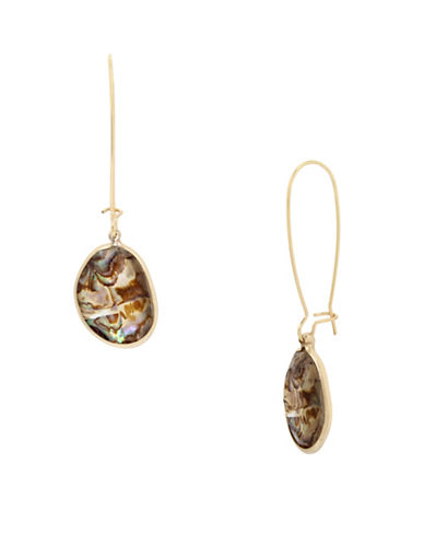 Kenneth Cole New York Abalone Drop Earrings-GOLD-One Size