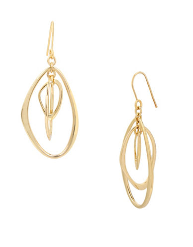 Kenneth Cole New York Orbital Drop Earrings-GOLD-One Size