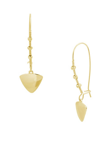 Kenneth Cole New York Wire Wrap Drop Earrings-GOLD-One Size