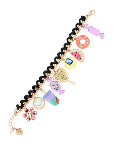 Betsey Johnson Brooklyn Multi-Charm Statement Bracelet-MULTI-One Size