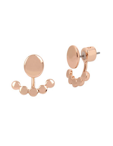 Kenneth Cole New York Polished Dangle and Drop Earrings-ROSE GOLD-One Size
