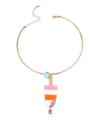 Betsey Johnson Popsicle Drop Pendant Necklace-MULTI-One Size