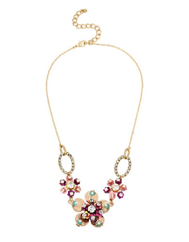 Betsey Johnson Brooklyn Multi Flower Necklace-MULTI-One Size
