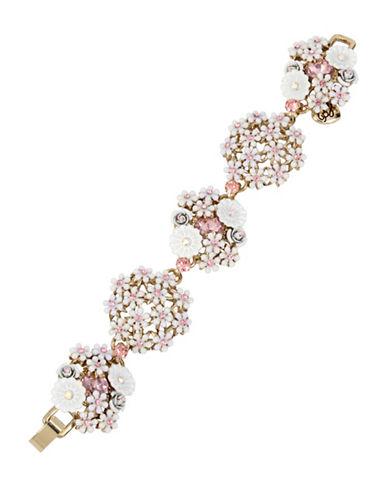 Betsey Johnson Flower Cluster Bracelet-WHITE-One Size