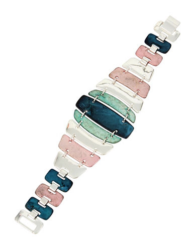 Robert Lee Morris Soho Iridescence Fold-Over Bracelet-MULTI-One Size