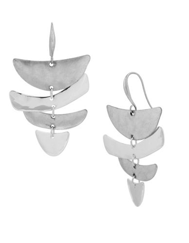 Robert Lee Morris Soho Iridescent Chandelier Earrings-SILVER-One Size