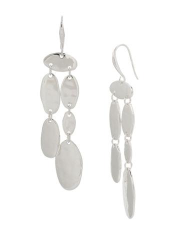 Robert Lee Morris Soho Iridescence Wire Chandelier Earrings-SILVER-One Size