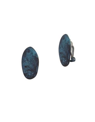 Robert Lee Morris Soho Iridescence Clip-On Earrings-BLUE-One Size