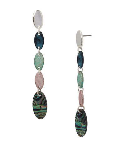 Robert Lee Morris Soho Abalone Iridescent Dangle and Drop Earrings-MULTI-One Size