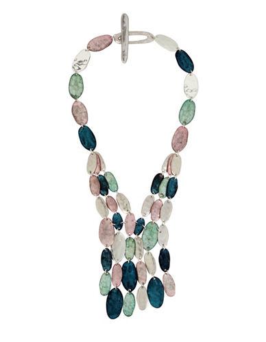 Robert Lee Morris Soho Semi-Precious Iridescence Multi-Strands Necklace-MULTI-One Size