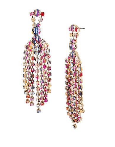 Betsey Johnson Graffiti Chandelier Earrings-ASSORTED-One Size
