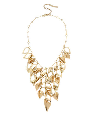 Kenneth Cole New York Illusion Statement Necklace-GOLD-One Size