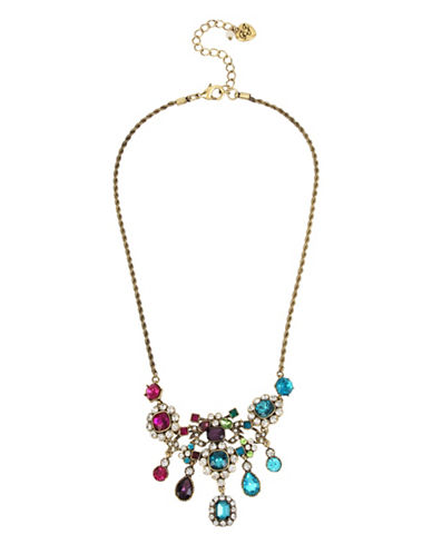 Betsey Johnson Multi-Colour Stone Necklace-ASSORTED-One Size
