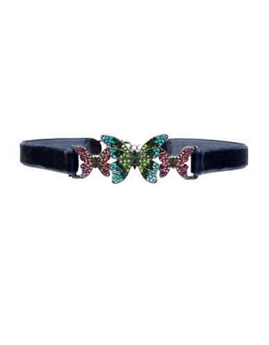 Betsey Johnson Butterfly Choker-MULTI-One Size