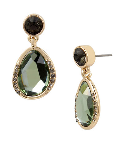 Kenneth Cole New York Green Semi-Precious Drop Earrings-GREEN-One Size