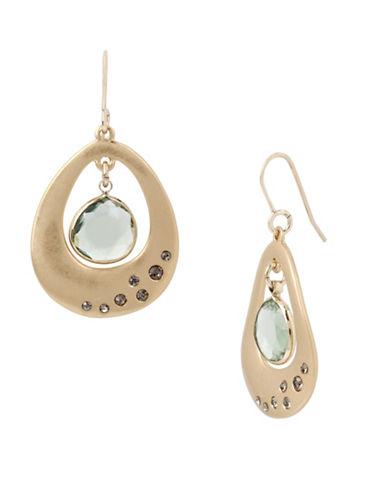 Kenneth Cole New York Orbital Drop Earrings-GREEN-One Size