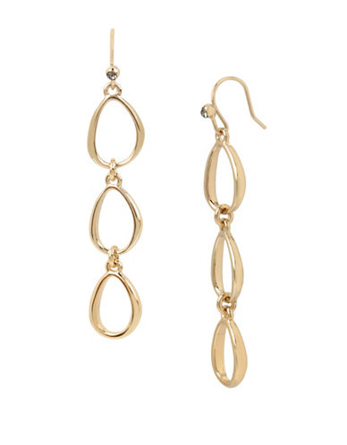 Kenneth Cole New York Goldtone Linear Earrings-GOLD-One Size