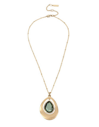 Kenneth Cole New York Orbital Pendant Necklace-GREEN-One Size
