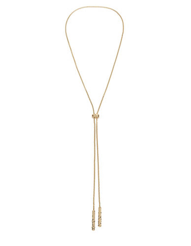 Kenneth Cole New York Semi-Precious Stone Y-Necklace-GOLD-One Size