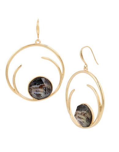 Robert Lee Morris Soho Abalone Shell Drop Earrings-BROWN-One Size