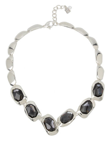 Robert Lee Morris Soho Black Stone Collar Necklace-BLACK-One Size