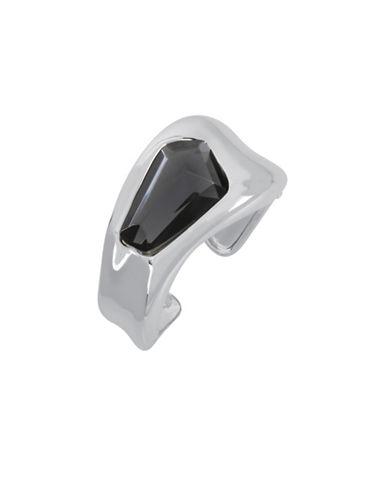 Robert Lee Morris Soho Black  and Crystal Statement Cuff Bracelet-BLACK-One Size