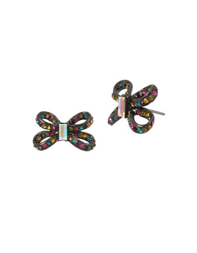 Betsey Johnson Crystal Stud Earrings-ASSORTED-One Size