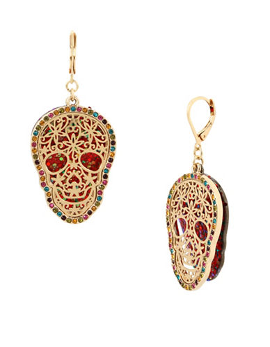 Betsey Johnson Crystal Drop Earrings-ASSORTED-One Size