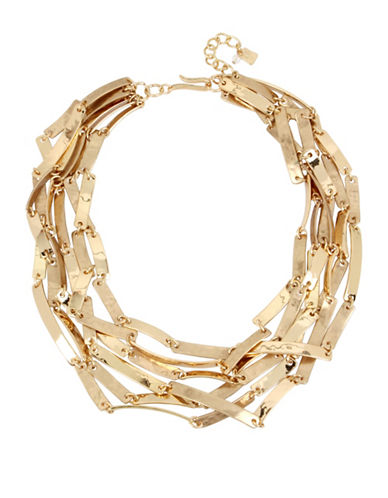 Robert Lee Morris Soho Multi-Row Goldtone Necklace-GOLD-One Size