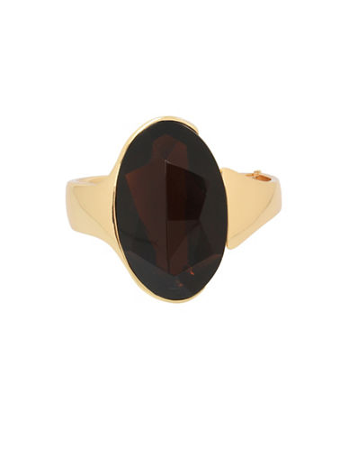Robert Lee Morris Soho Semi-Precious Cuff Bracelet-BROWN-One Size