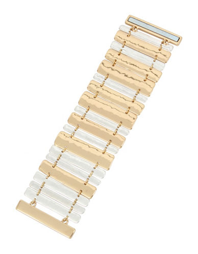 Robert Lee Morris Soho Two-Tone Magnetic Bar Bracelet-TWO TONE-One Size