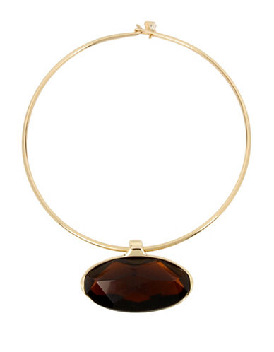 Robert Lee Morris Soho Brown Topaz Wire Necklace-BROWN-One Size