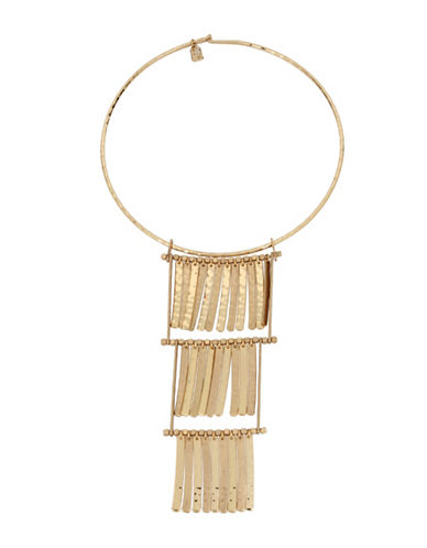 Robert Lee Morris Soho Round Wire Shakey Necklace-GOLD-One Size