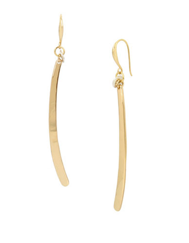 Robert Lee Morris Soho Goldtone Linear Earrings-GOLD-One Size