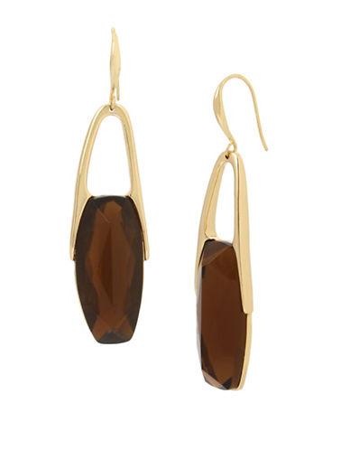Robert Lee Morris Soho Brown Topaz and Crystal Drop Earrings-BROWN-One Size