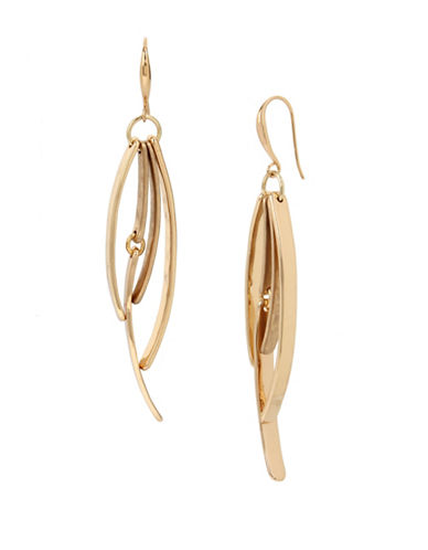 Robert Lee Morris Soho Multi-Stick Goldtone Linear Earrings-GOLD-One Size