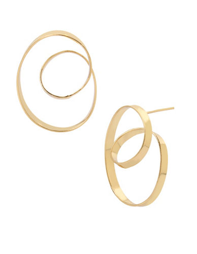 Robert Lee Morris Soho Goldtone Loop Hoop Earrings-GOLD-One Size
