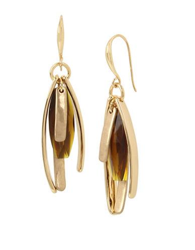 Robert Lee Morris Soho Brown Topaz Multi-Stick Drop Earrings-BROWN-One Size