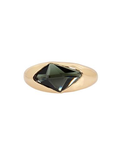 Robert Lee Morris Soho Semi-Precious Stone and Crystal Statement Bracelet-GREEN-One Size