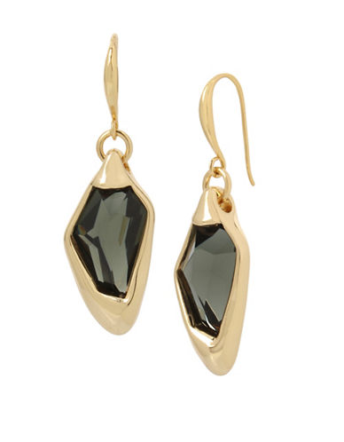 Robert Lee Morris Soho Faceted Stone Drop Earrings-GREEN-One Size