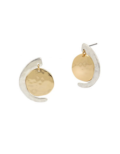 Robert Lee Morris Soho Two-Tone Post Drop Earring-TWO TONE-One Size
