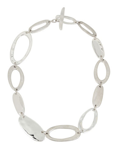 Robert Lee Morris Soho Hammered Link Necklace-SILVER-One Size