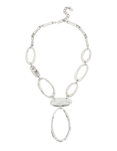 Robert Lee Morris Soho Chain Link Y-Necklace-SILVER-One Size