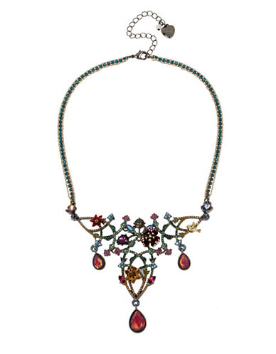 Betsey Johnson Multi-Colour Frontal Necklace-MULTI-One Size