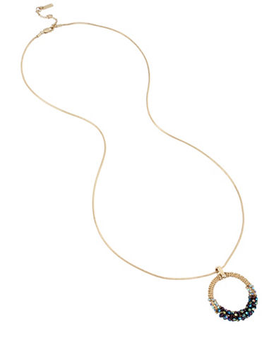 Kenneth Cole New York Crystal Pendant Necklace-MULTI-One Size
