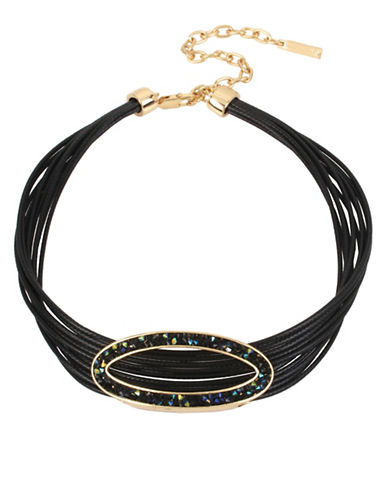 Kenneth Cole New York Corded Choker Necklace-BLACK-One Size